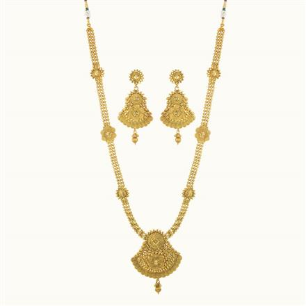 10223 Antique Long Necklace with gold plating