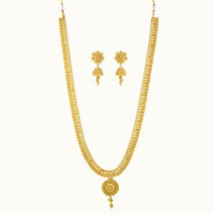 10226 Antique Plain Gold Necklace