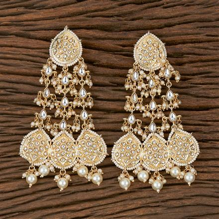 102296 Indo Western Trendy Earring With Gold Plating