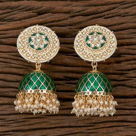 102297 Indo Western Jhumkis With Gold Plating