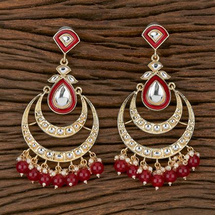 102299 Indo Western Chand Earring With Gold Plating