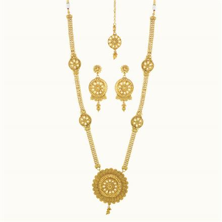 10229 Antique Long Necklace with gold plating