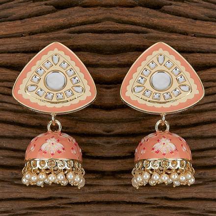 102305 Indo Western Jhumkis With Gold Plating