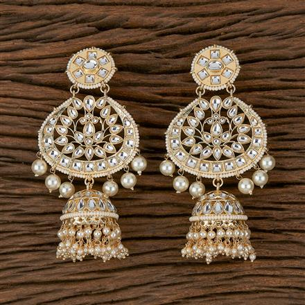 102310 Indo Western Trendy Earring With Gold Plating