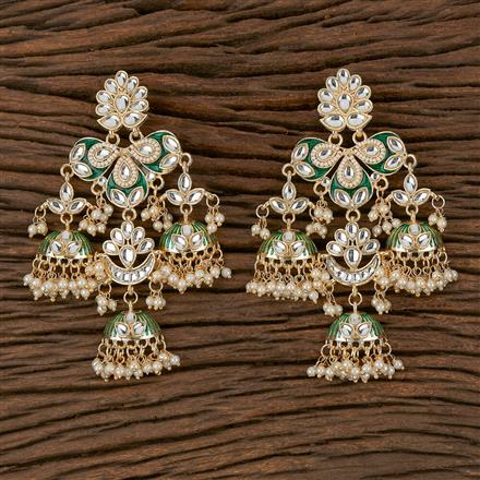102329 Indo Western Trendy Earring With Gold Plating