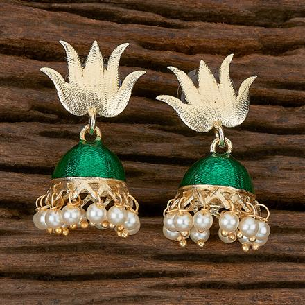 102332 Indo Western Jhumkis With Gold Plating