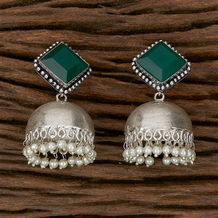 102343 Indo Western Jhumkis With Oxidised Plating