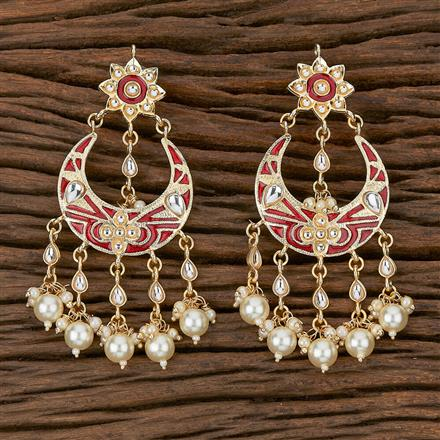 102347 Indo Western Chand Earring With Gold Plating