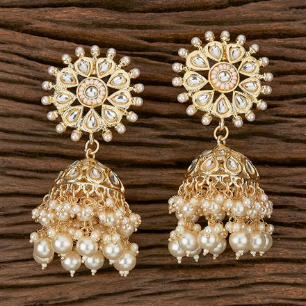 102349 Indo Western Jhumkis With Gold Plating