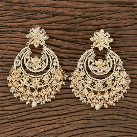 102351 Indo Western Chand Earring With Gold Plating