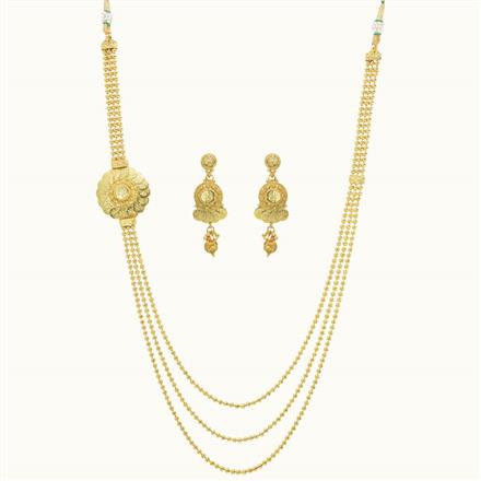10237 Antique Side Pendant Necklace with gold plating
