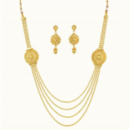 10241 Antique Side Pendant Necklace with gold plating