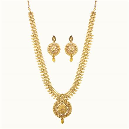 10245 Antique Long Necklace with gold plating