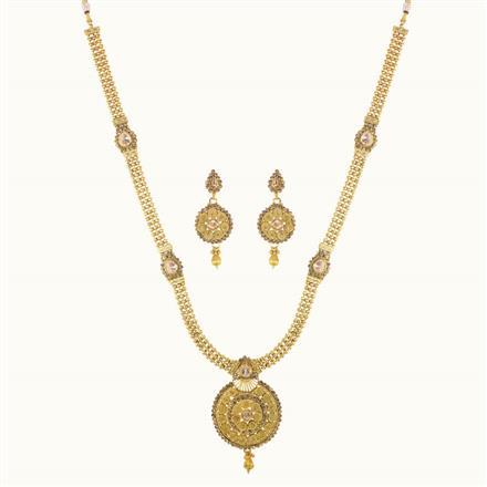 10246 Antique Long Necklace with gold plating