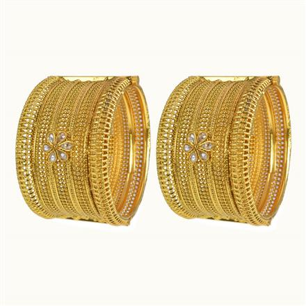 10252 Antique Openable Bangles with gold plating
