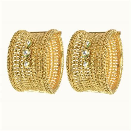 10253 Antique Openable Bangles with gold plating