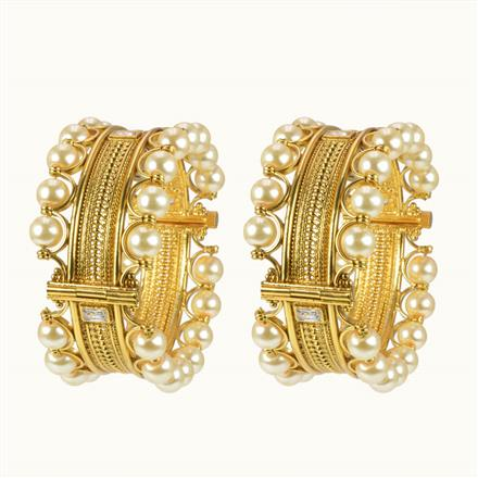 10255 Antique Classic Bangles with gold plating