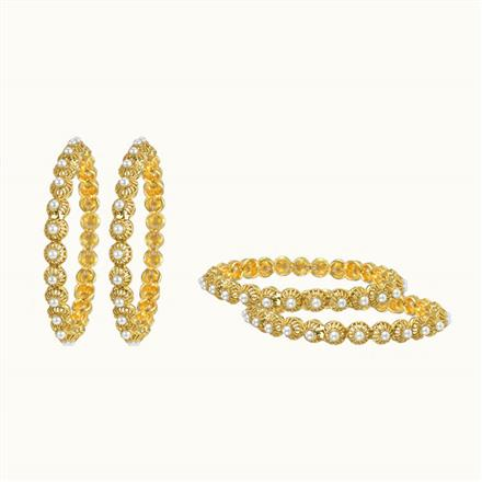 10256 Antique Classic Bangles with gold plating