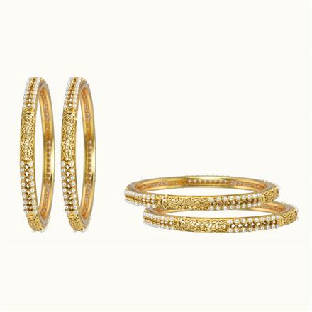 10258 Antique Classic Bangles with gold plating
