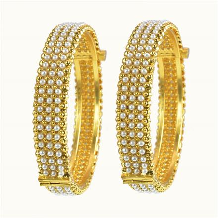 10262 Antique Openable Bangles with gold plating