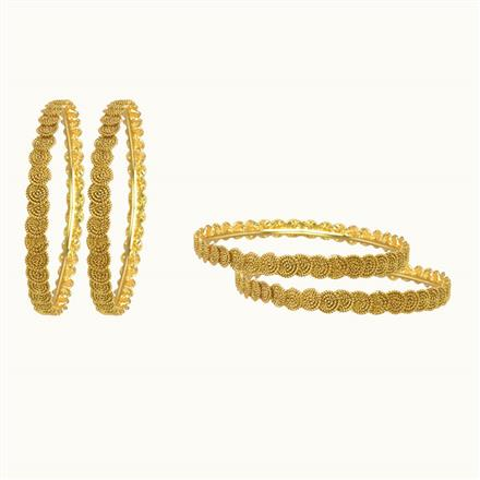 10263 Antique Plain Gold Bangles