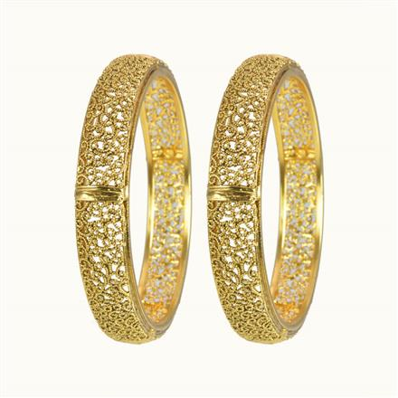 10264 Antique Plain Gold Bangles