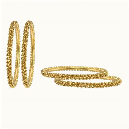 10265 Antique Plain Gold Bangles
