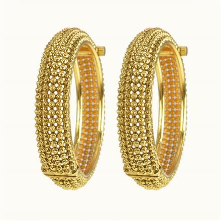10266 Antique Openable Bangles with gold plating
