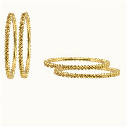 10267 Antique Plain Gold Bangles