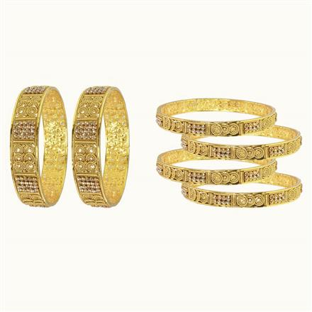10271 Antique Classic Bangles with gold plating