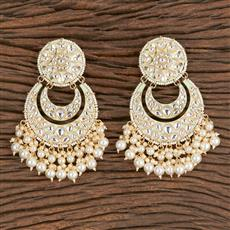 102732 Indo Western Chand Earring With Gold Plating