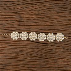 102749 Indo Western Classic Bracelet With Gold Plating