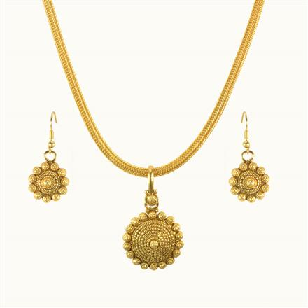 10274 Antique Delicate Pendant Set with gold plating
