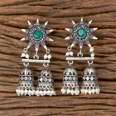 102796 Indo Western Jhumkis With Oxidised Plating