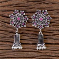 102800 Indo Western Jhumkis With Oxidised Plating