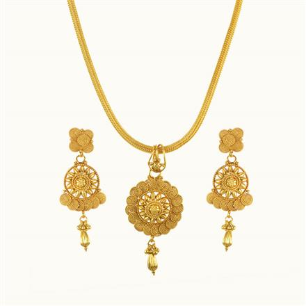 10280 Antique Delicate Pendant Set with gold plating