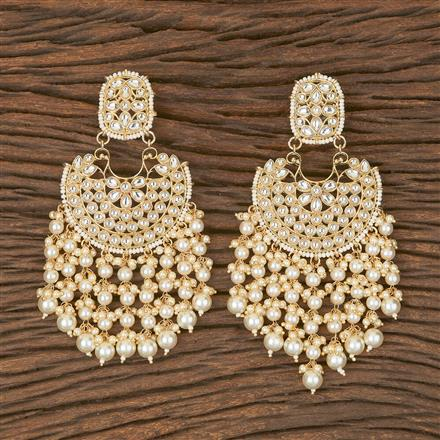 102841 Indo Western Chand Earring With Gold Plating