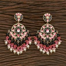 102842 Indo Western Trendy Earring With Gold Plating