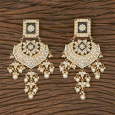 102884 Indo Western Chand Earring With Gold Plating