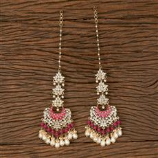 102885 Indo Western Chand Earring With Gold Plating