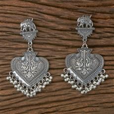 102920 Indo Western Trendy Earring With Oxidised Plating