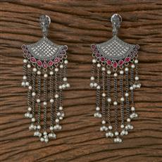 102921 Indo Western Trendy Earring With Oxidised Plating