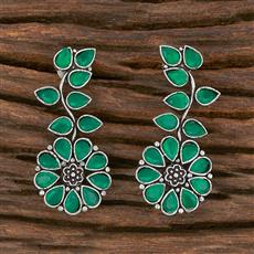102939 Indo Western Classic Earring With Oxidised Plating