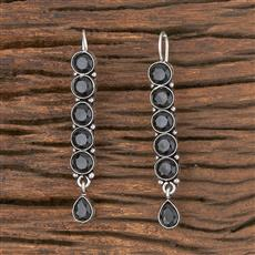 102945 Indo Western Classic Earring With Oxidised Plating