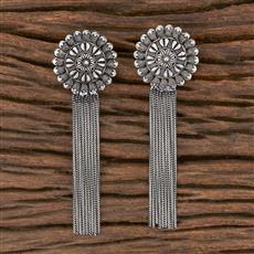 102955 Indo Western Classic Earring With Oxidised Plating