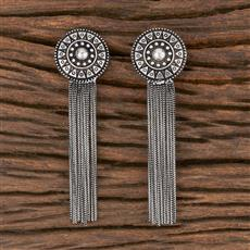 102956 Indo Western Classic Earring With Oxidised Plating
