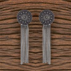 102957 Indo Western Classic Earring With Oxidised Plating