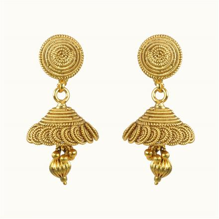 10296 Antique Jhumki with gold plating