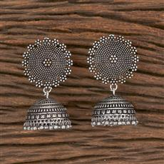 102980 Indo Western Jhumkis With Oxidised Plating