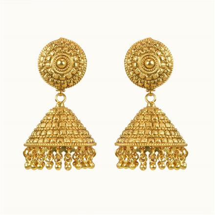 10299 Antique Jhumki with gold plating